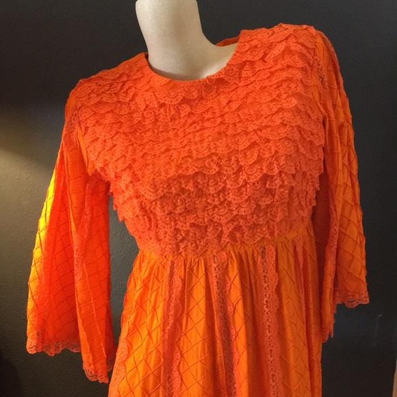 Vintage Dresses & Skirts - Vintage 1970's Mexican Wedding Dress
